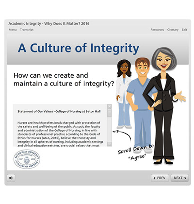 Nursing Integrity Modules